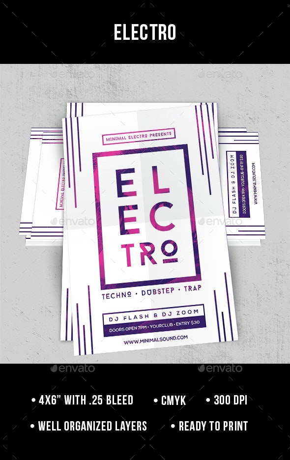 Electro - Flyer - Clubs & Parties Events