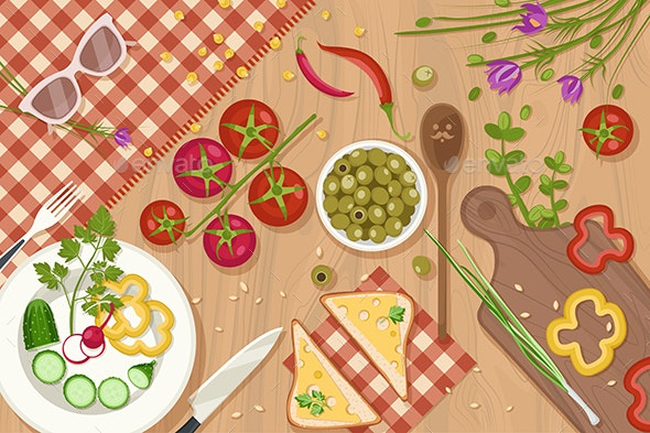 Healthy Food Illustration - Food Objects