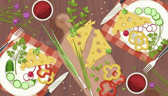 Fresh Food Illustration - Food Objects
