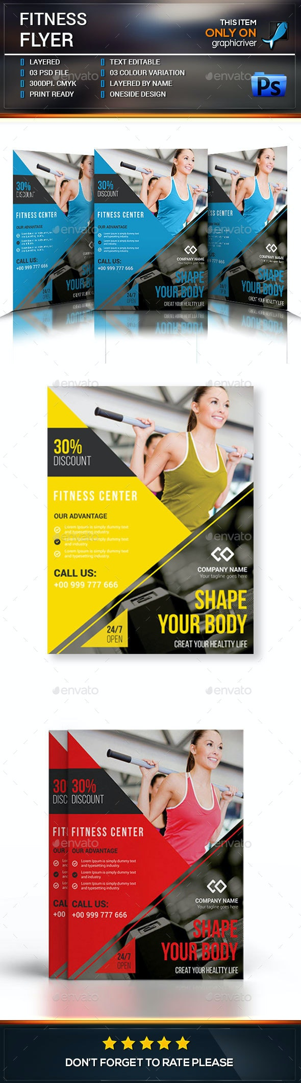 Fitness Flyer Template - Commerce Flyers