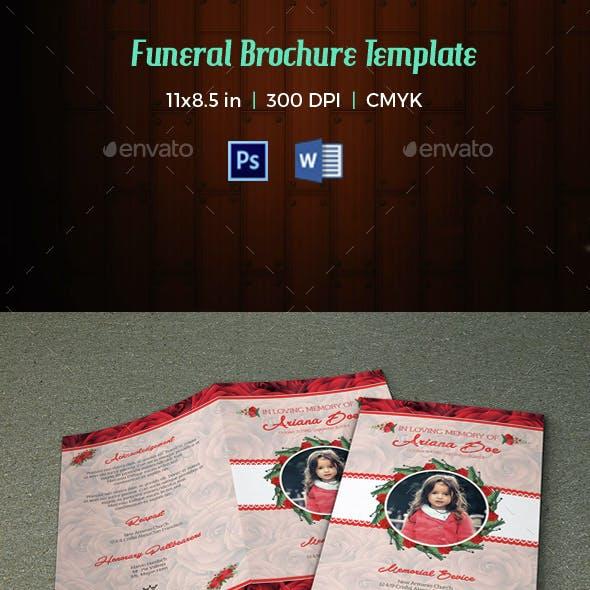 Child Funeral Program Template-V046