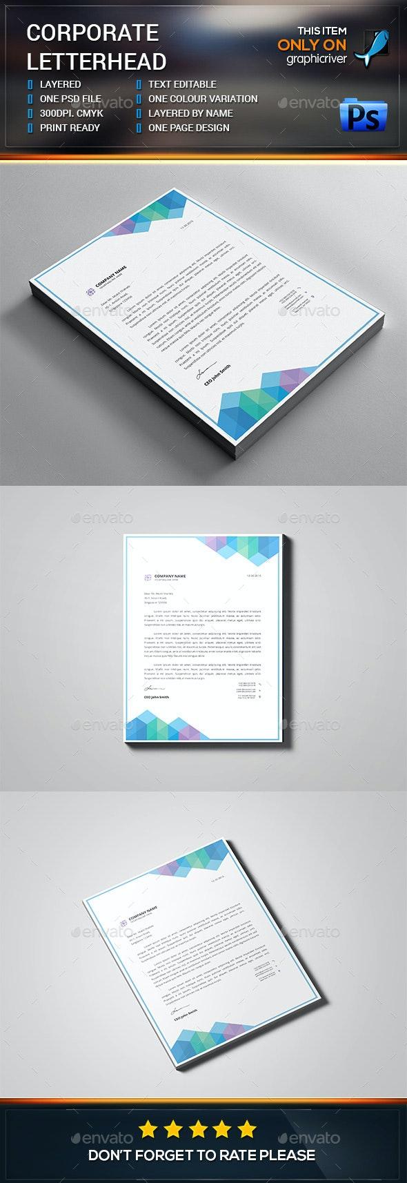 Letterhead Design Template - Stationery Print Templates