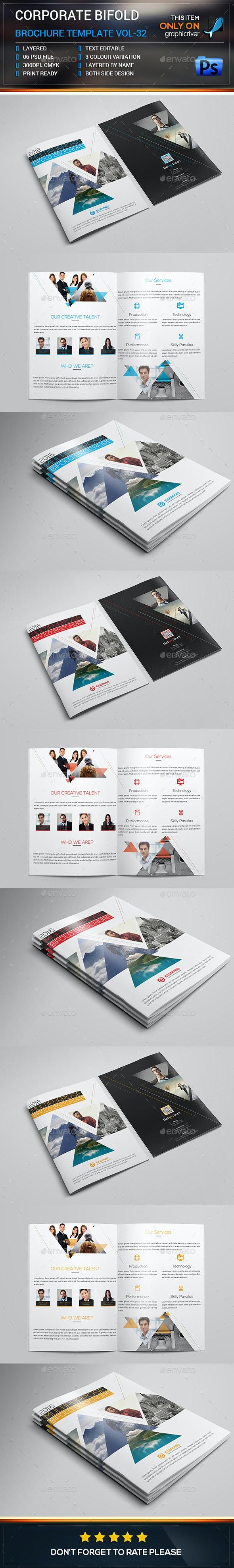 Corporate Bifold Brochure Template vol-32 - Corporate Brochures