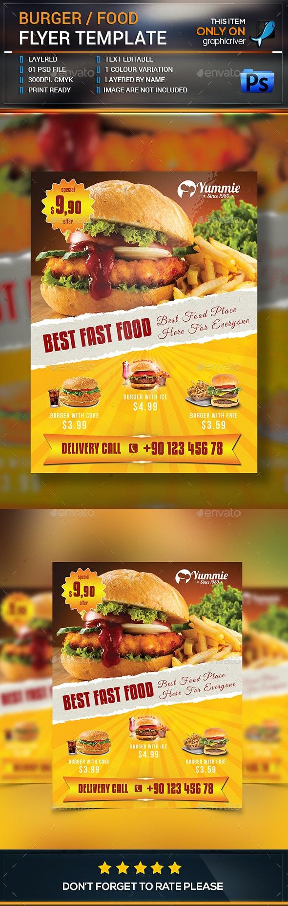 Burger/Food Flyer - Restaurant Flyers