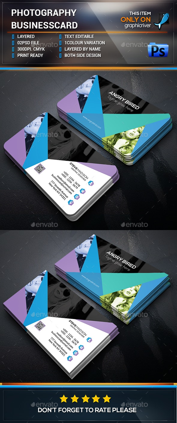 Photography Business Card Design - Industry Specific Business Cards