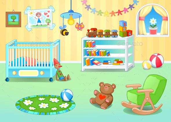 Nursery with Toys - Buildings Objects