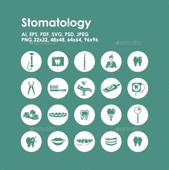 20 Stomatology Icons - Objects Icons