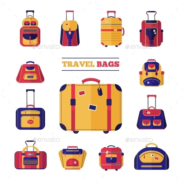 Luggage Travel Bags Set - Travel Conceptual