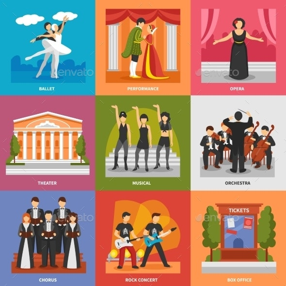 Theatre Compositions 3X3 Design Concept  - People Characters