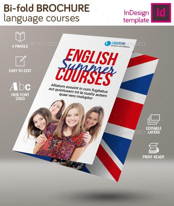 Language Course Bi-Fold Brochure - Brochures Print Templates