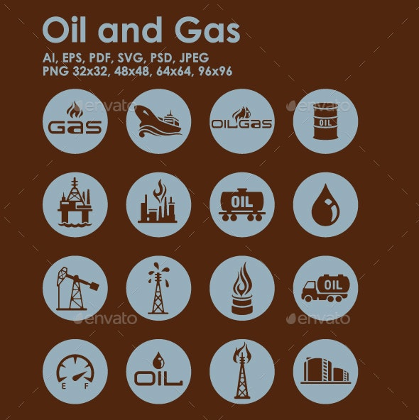 16 Oil and Gas Icons - Technology Icons