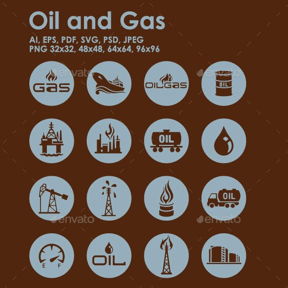 16 Oil and Gas Icons