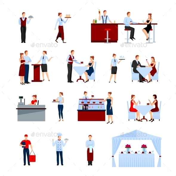 Catering Icons Set - Services Commercial / Shopping