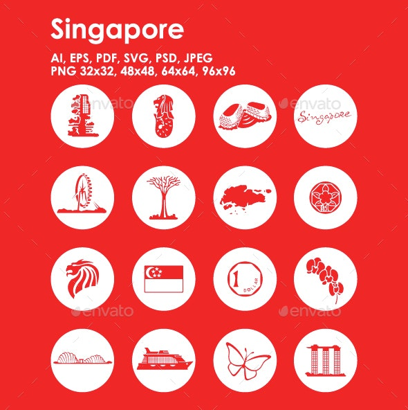 16 Singapore Icons - Objects Icons