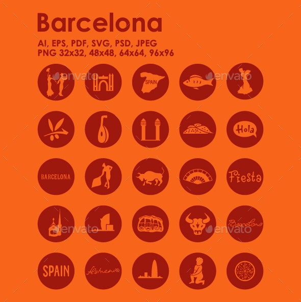 25 Barcelona Icons - Objects Icons