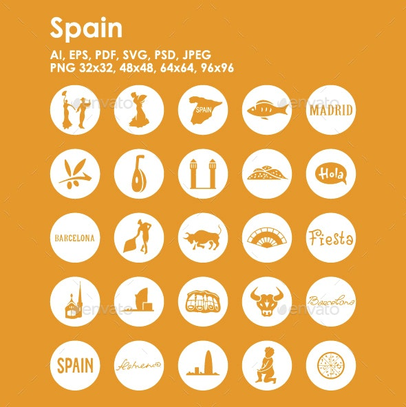 25 Spain Icons - Objects Icons