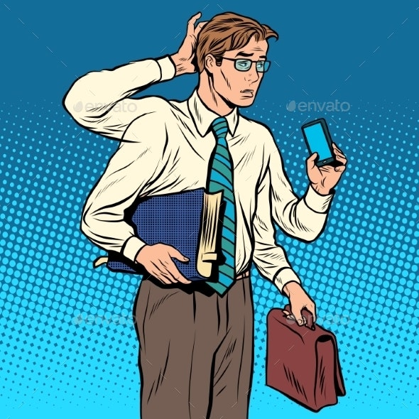 Multi-Armed Business Person - People Characters