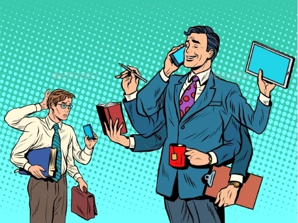 Successful Businessman and a Loser - Concepts Business
