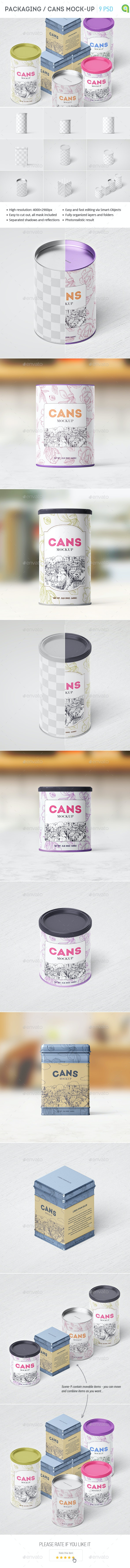 Packaging / Can Mockup - Food and Drink Packaging