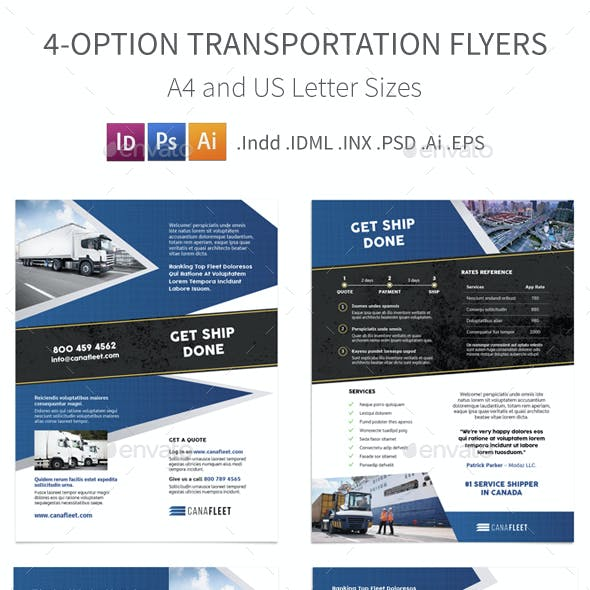 Transportation Company Flyers – 4 Options