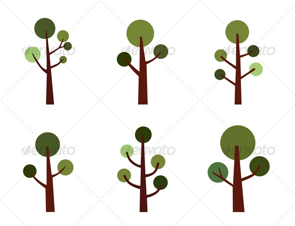 Tree set - Organic Objects Objects
