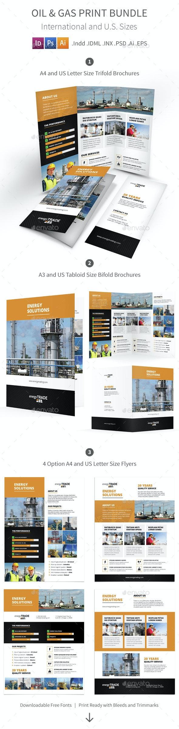 Oil & Gas Print Bundle - Corporate Brochures