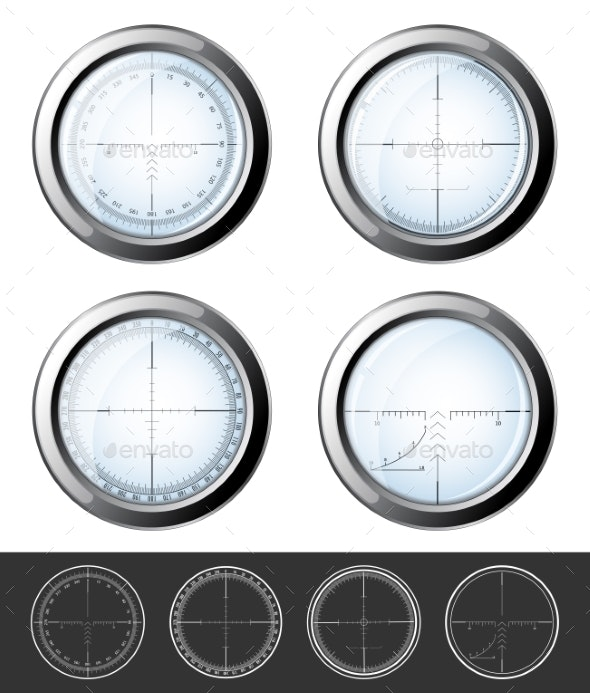 Sniper  Crosshairs Set - Objects Vectors
