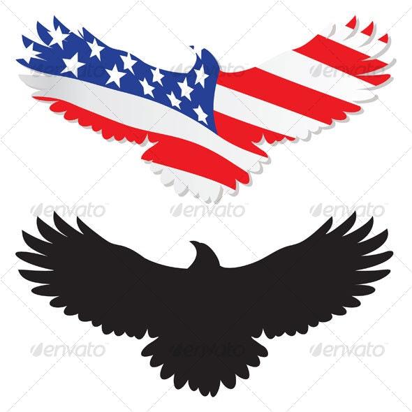 American eagle - Characters Vectors