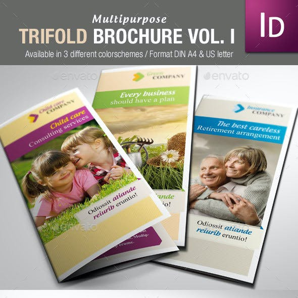 Multipurpose Trifold Brochure Vol. I