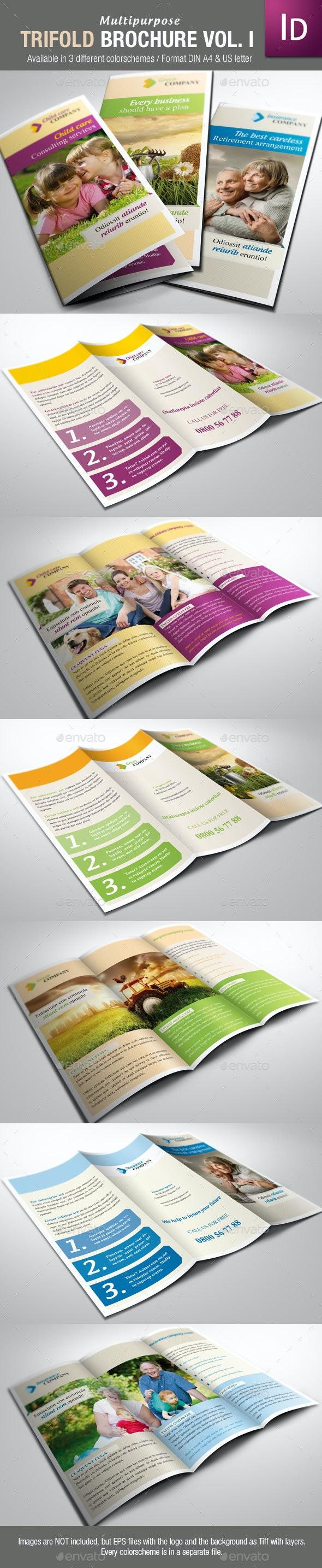 Multipurpose Trifold Brochure Vol. I - Corporate Brochures