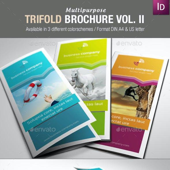 Multipurpose Trifold Brochures Vol. II