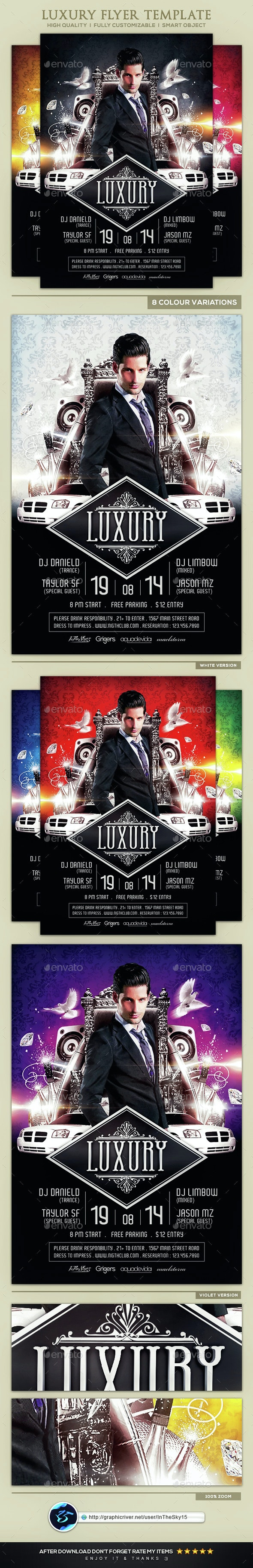 Luxury Flyer Template - Flyers Print Templates