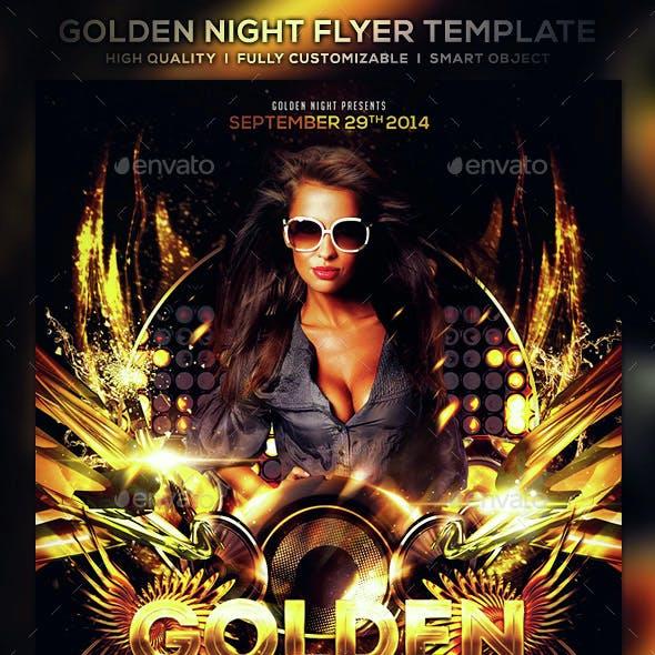Golden Night Flyer Template