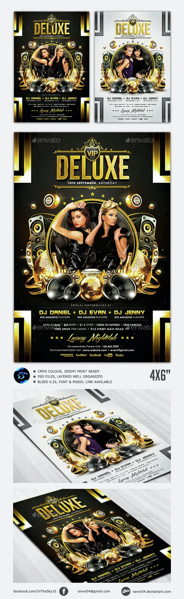 VIP Deluxe Flyer Template - Clubs & Parties Events