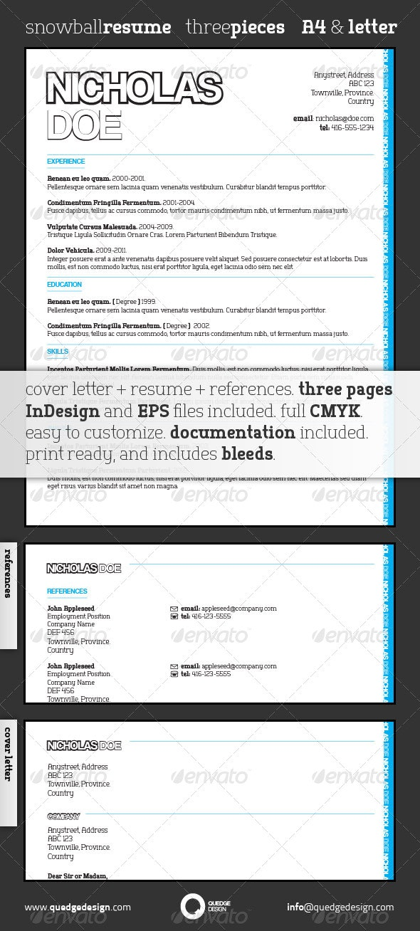 Snowball Resume Template - Resumes Stationery