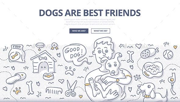 Dogs Care Doodle Concept - Miscellaneous Conceptual