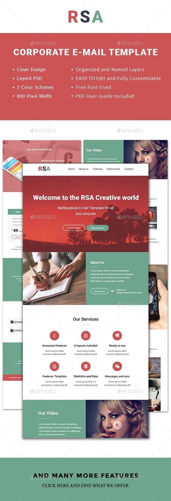 RSACreative Multipurpose Template - E-newsletters Web Elements