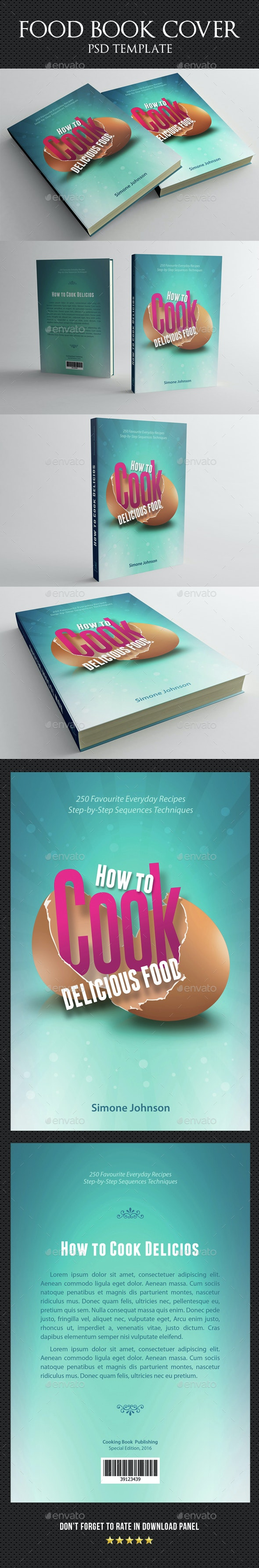 Cook Food Book Cover Template - Miscellaneous Print Templates
