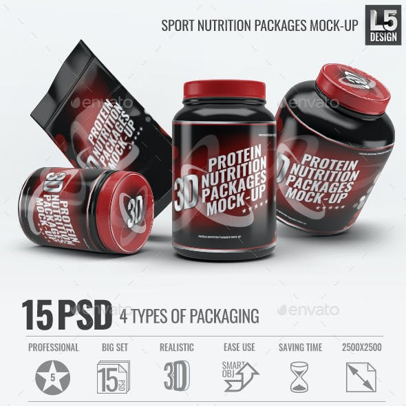 Sport Nutrition Packages Mock-Up