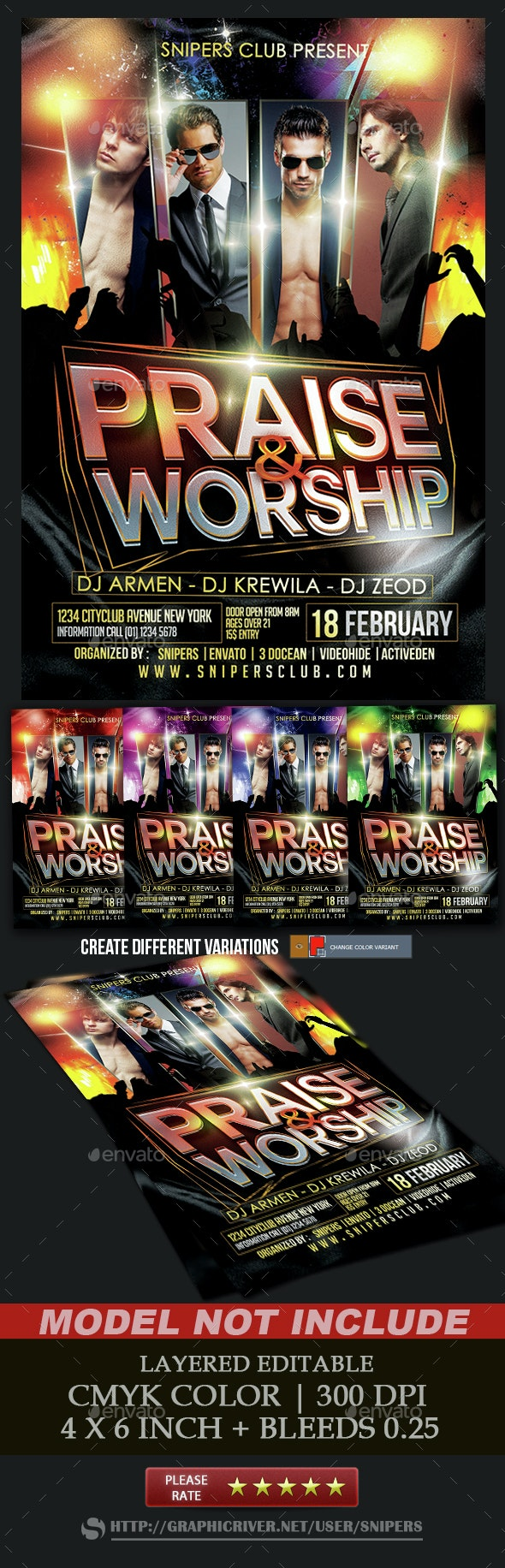 Praise and Worship - Events Flyers