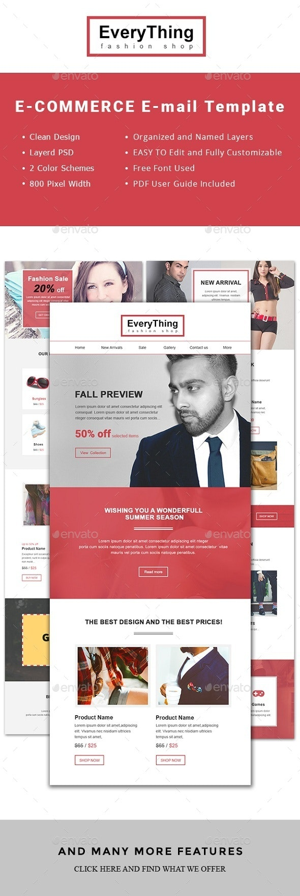 Every Thing Email Newsletter Template - E-newsletters Web Elements
