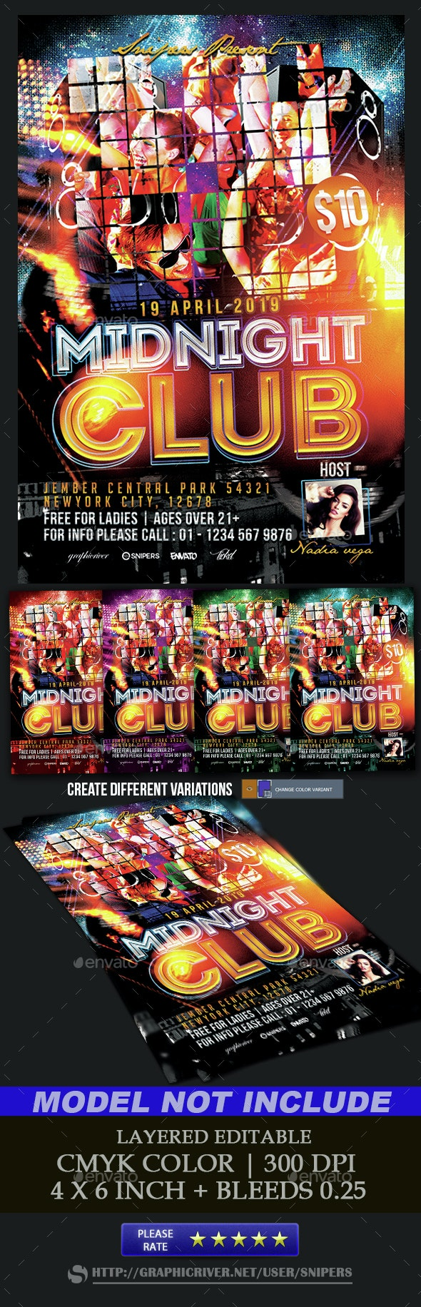 Midnight Club - Events Flyers