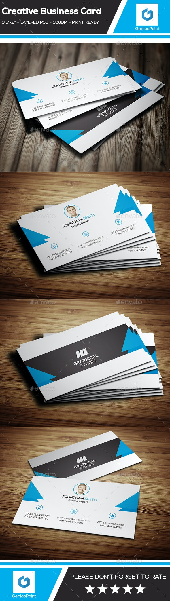 Creative Business card. - Business Cards Print Templates