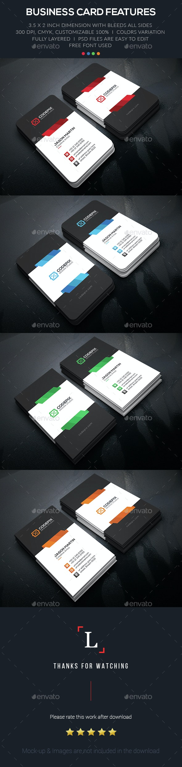 Shade Creative Business Card - Business Cards Print Templates