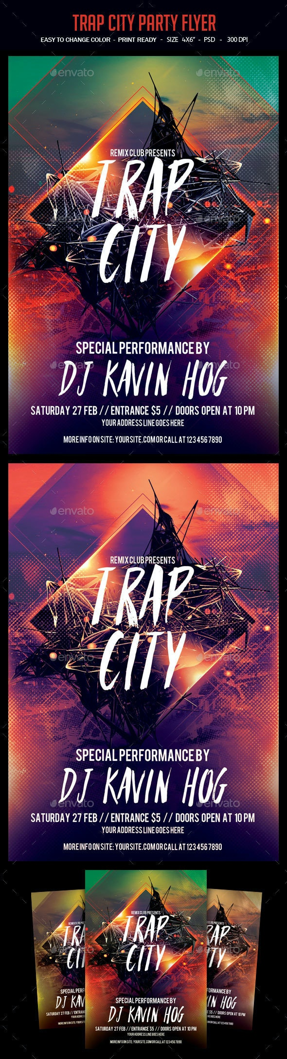 Trap City Party Flyer - Clubs & Parties Events