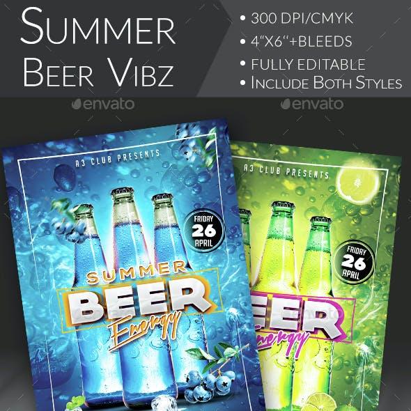 Summer Beer Vibes Flyer