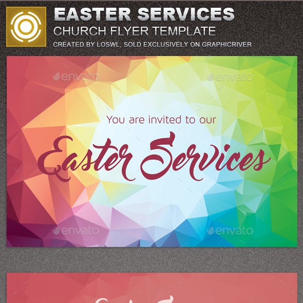 Church Easter Graphics, Designs & Templates from GraphicRiver