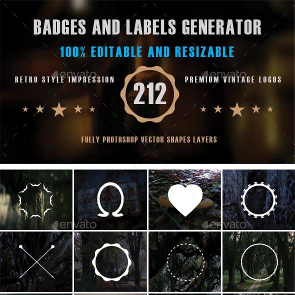 Badges and Labels Generator Vol. 2