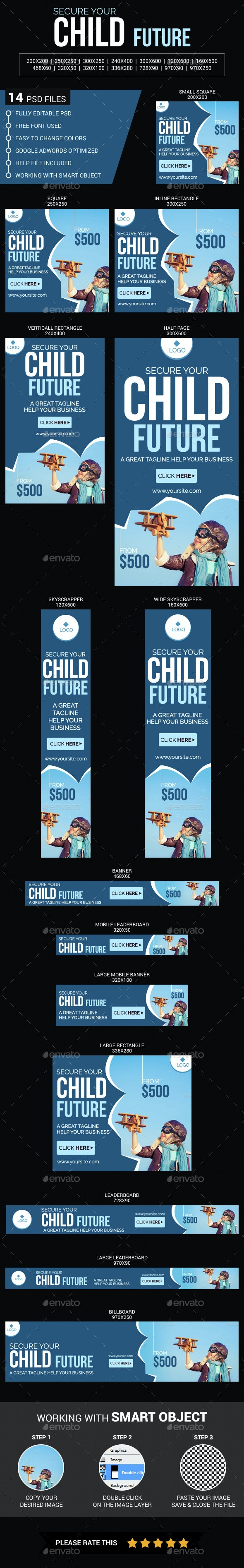 Child Future Insurance - Banners & Ads Web Elements