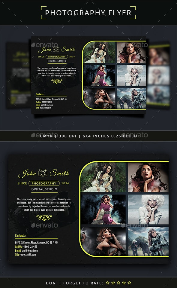 Photography Flyer Template - Commerce Flyers